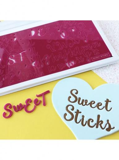 Sweet Stamp - SWEET STICKS  (Large) Letters Embossing Set