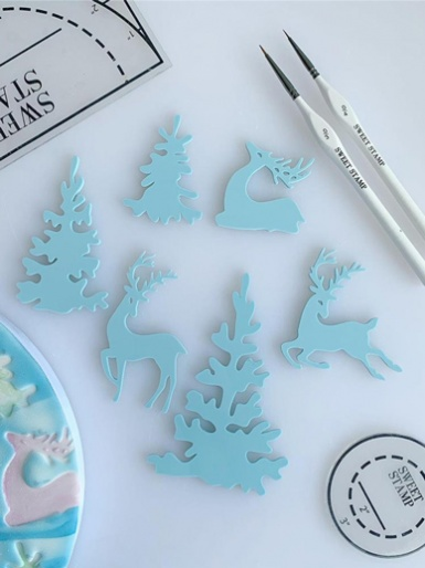 Sweet Stamp - WINTER WONDERLAND - Elements Embossing Set