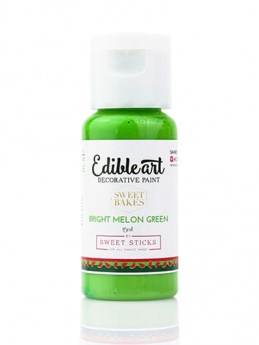 Sweet Sticks Edible Art Decorative Paint - Bright Melon Green 15ml