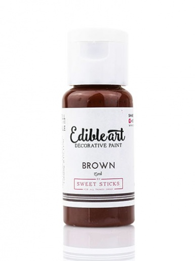 Sweet Sticks Edible Art Decorative Paint - Brown 15ml