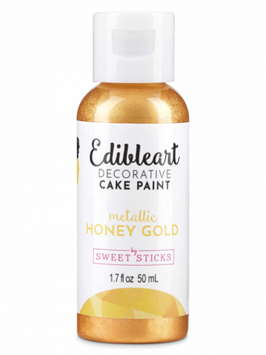 Sweet Sticks Edible Art Decorative Paint - Metallic Honey Gold 50ml