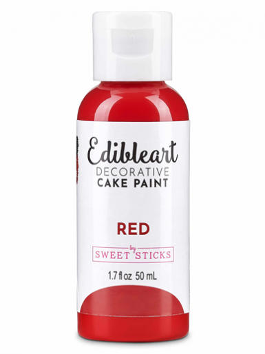 Sweet Sticks Edible Art Decorative Paint - Red 50ml