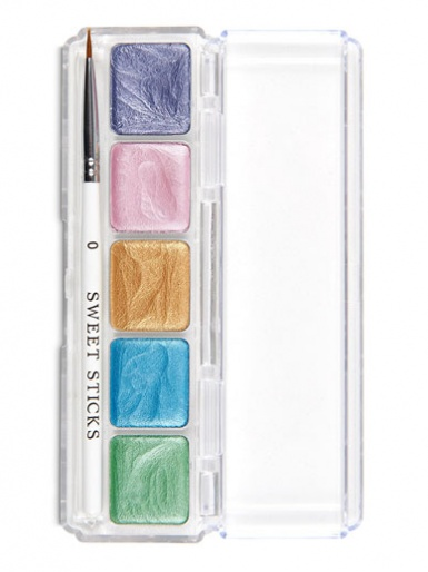Sweet Sticks Edible Art Water Activated Paint Palette - Mermaid Palette