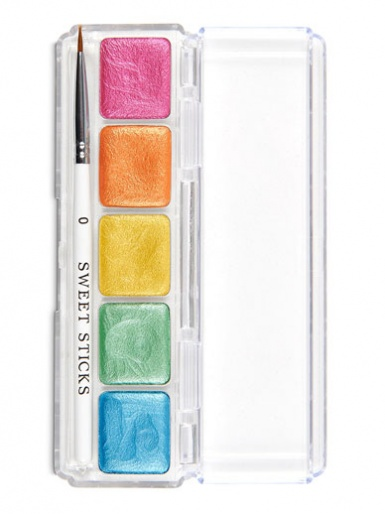 Sweet Sticks Edible Art Water Activated Paint Palette - Rainbow Palette