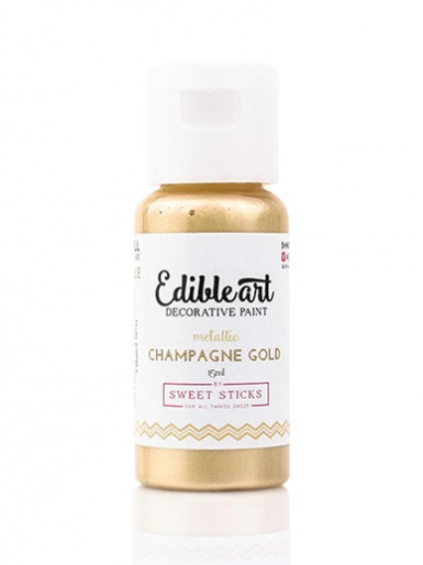 Sweet Sticks Edible Art Decorative Paint - Metallic Champagne Gold 15ml
