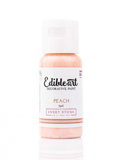 Sweet Sticks Edible Art Decorative Paint - Peach 15ml