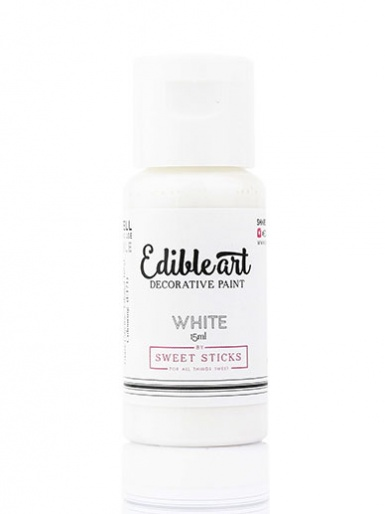 Sweet Sticks Edible Art Decorative Paint - White 15ml