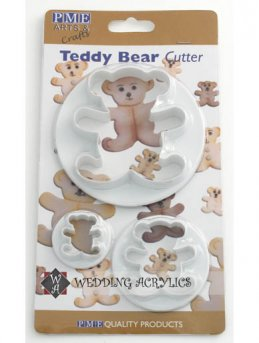 Teddy Bear Cutter (set of 3)