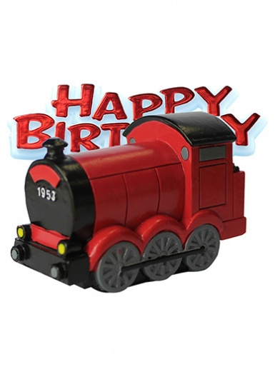 Train & Happy Birthday Motto Cake Topper