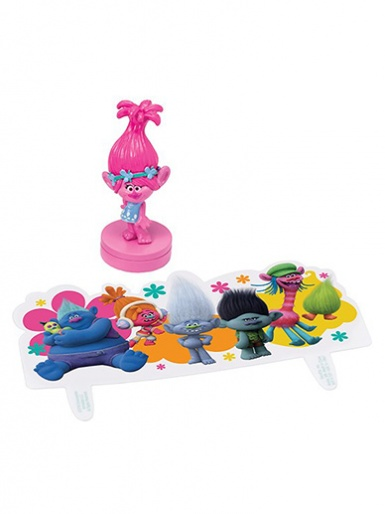 Trolls ''Show Me a Smile'' Cake Decoration Set