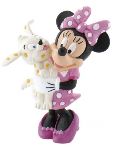 Minnie with puppy Cake Topper / Figurine