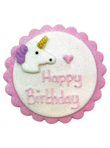 Happy Birthday Plaque - Unicorn