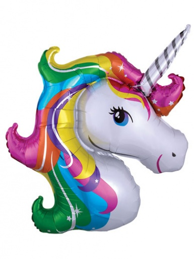 SuperShape - Rainbow Unicorn Balloon - 33'' Foil