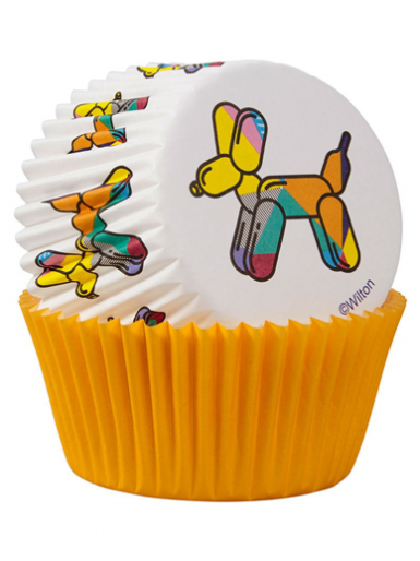 Wilton Standard Baking Cases - Balloon Dog - Pack of 75