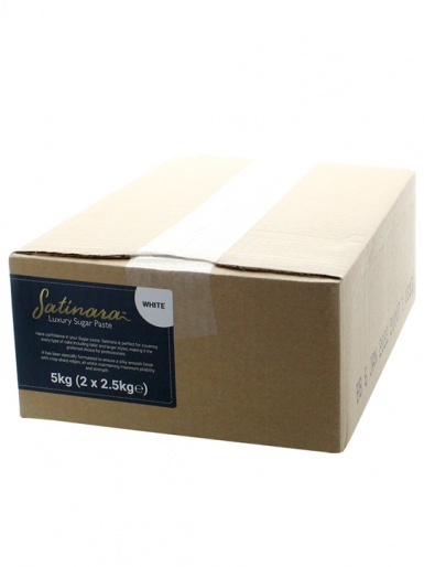 Satinara Luxury Sugar Paste 5kg - White