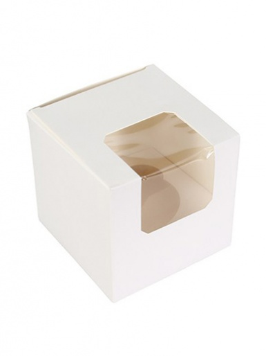 Single White Cupcake Box 90 x 90 x 90mm