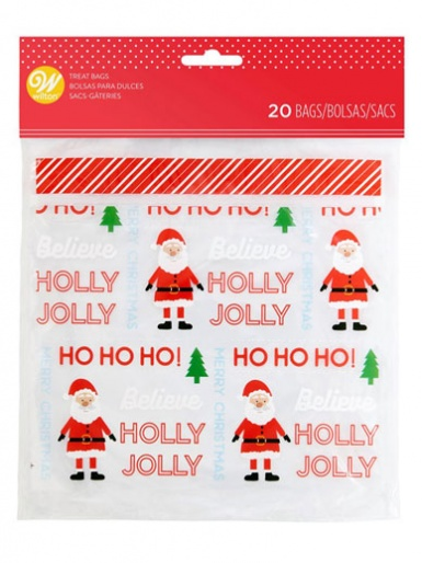 Wilton Zip Close Treat Bags - Christmas - Pack of 20
