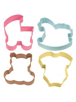 Wilton Cookie Cutter Set - 4 Pieces - Baby Theme