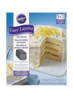 Wilton Easy Layers Square Cake Pan Set - 4 Pieces