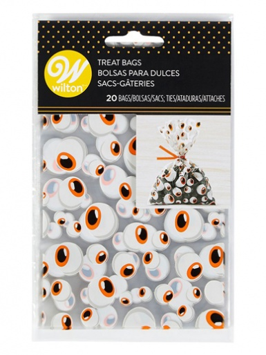Wilton Mini Treat Bag - Eyeballs - Pack of 20