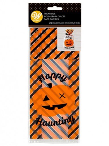 Wilton Standard Treat Bag - Happy Haunting - Pack of 20