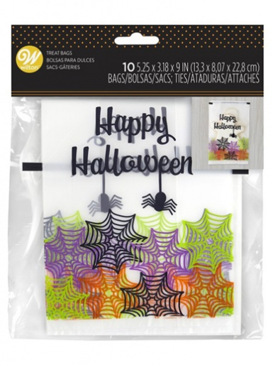 Wilton Treat Bags Happy Halloween Spider & Web - Pack of 10