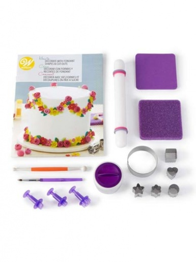 Wilton How To Decorate Fondant Shapes & Cut-Outs Kit