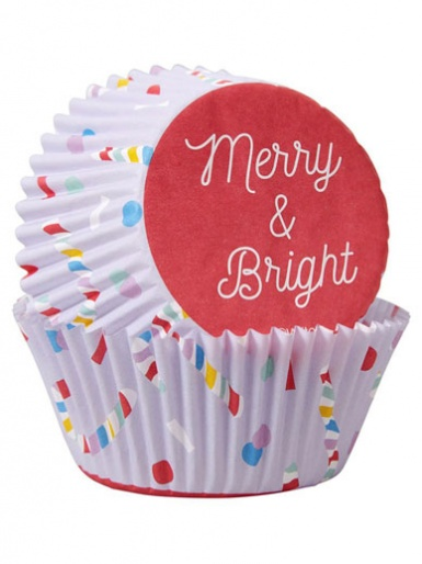 Wilton Standard Baking Cases - Pack of 75 - Merry & Bright
