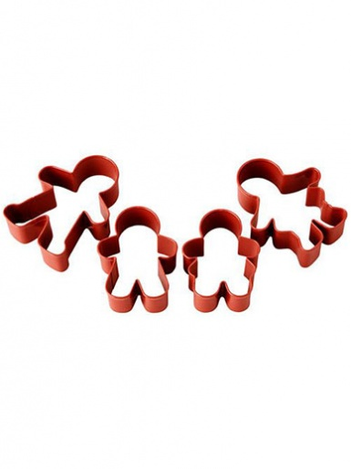 Wilton Metal Cookie Cutter Set - Gingerbread Family
