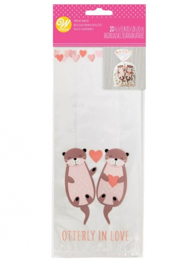 Wilton Standard Treat Bag - Otterly in Love - Pack of 20