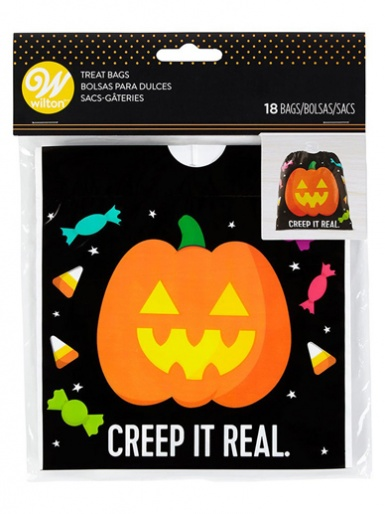 Wilton Drawstring Treat Bag - Pumpkin - Pack of 18