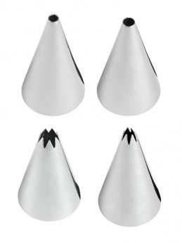 Wilton Small Tip Set - Round and Star Nozzles - Set of 4
