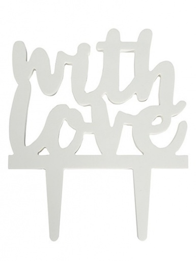 Gumpaste Cake Topper Pic - With Love