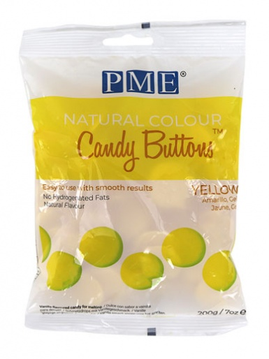 Candy Buttons - NATURAL COLOUR YELLOW 200g (7oz)