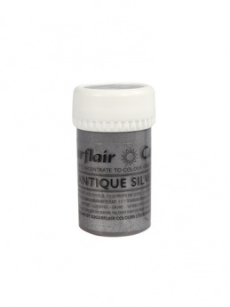 Sugarflair Satin Paste - Antique Silver