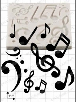 Musical Notes Silicone Mould