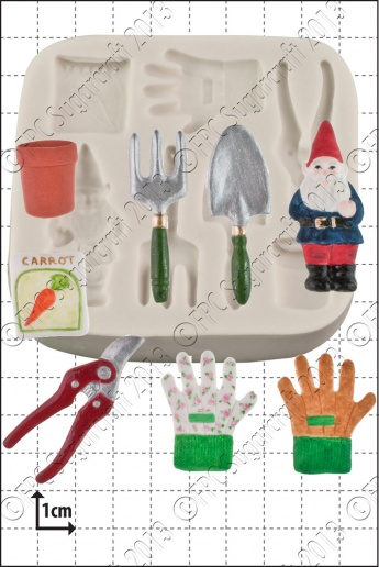 Gardening Tools Silicone Mould