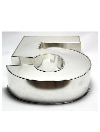 Large Number Five Cake Tin