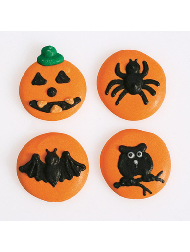 Halloween Buttons Edible Sugar Decorations