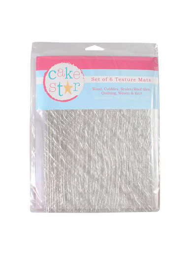 Cake Star Texture Impression Mats - 6 Piece Set