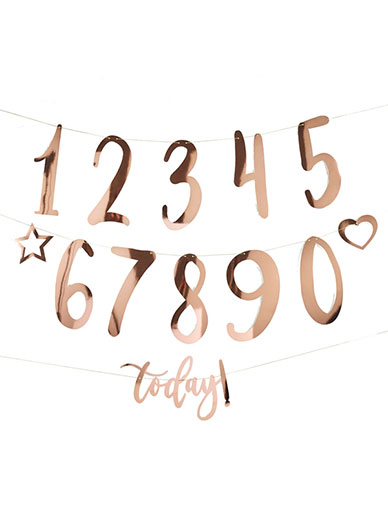Create your own Birthday Bunting - Rose Gold