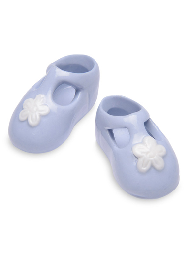 Porcelain Baby Booties in Blue