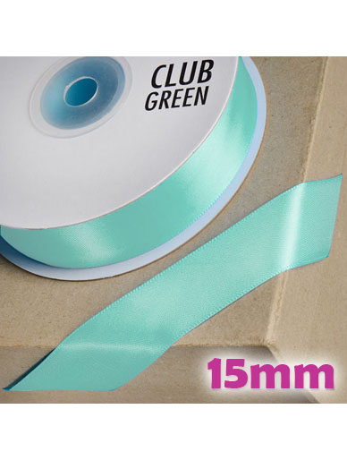 Double Sided Satin Ribbon 15mm Aqua