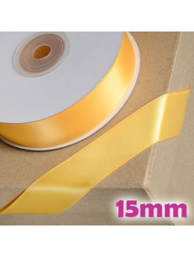 Double Sided Satin Ribbon 15mm Marigold