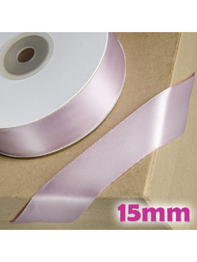 Double Sided Satin Ribbon 15mm Mauve