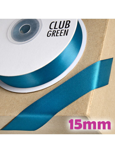 Double Sided Satin Ribbon 15mm Teal