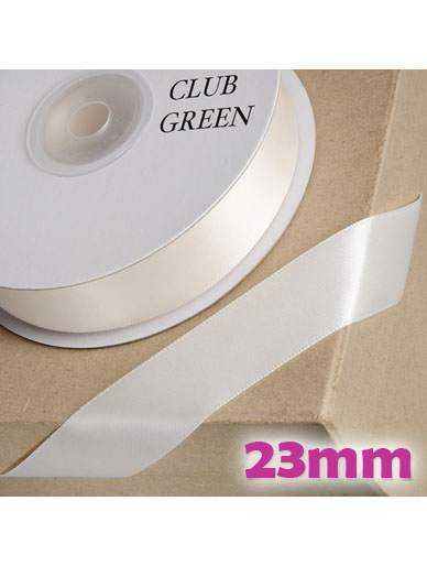 Double Sided Satin Ribbon 23mm - Ivory