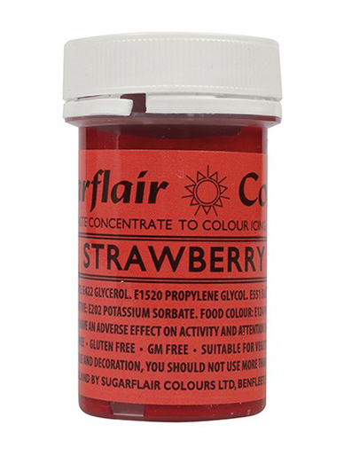 Sugarflair Spectral Paste - Strawberry