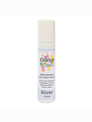 Colour Splash Edible Metallic Spray - Silver 100ml