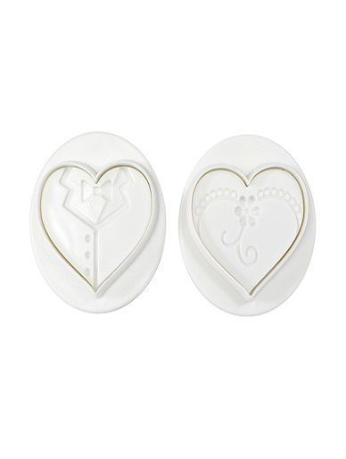 Bride & Groom Plunger Cutter Set of 2 by Pavoni